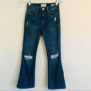 Frame le Crop Mini Boot jeans Size 24 stretch